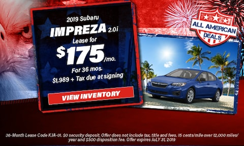 July 2019 Impreza Lease Offer