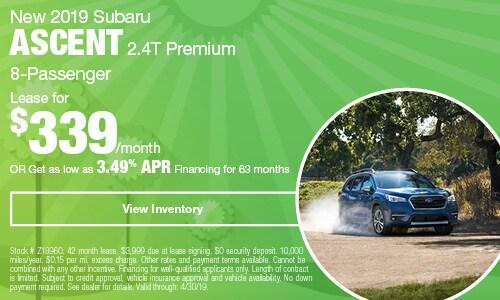 2019 Subaru Ascent - April