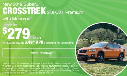 2019 Subaru Crosstrek - April