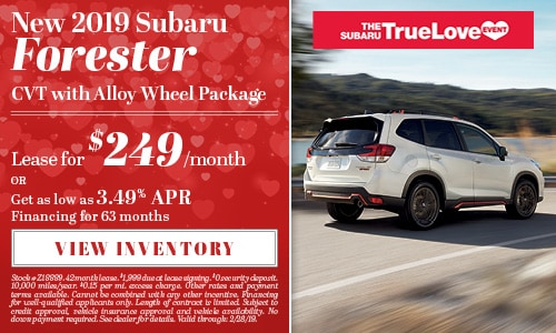 New 2019 Subaru Forester CVT w/Alloy Wheel Package