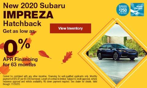 New 2020 Subaru Impreza Hatchback