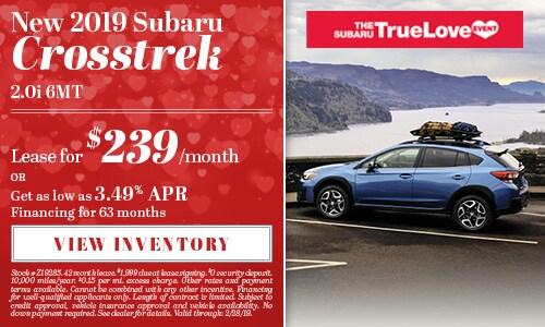 New 2019 Subaru Crosstrek 2.0i 6MT
