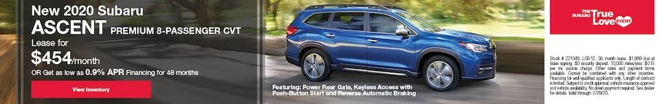New 2020 Subaru Ascent Premium 8-Passenger CVT
