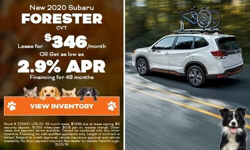 2020 Subaru Forester - October