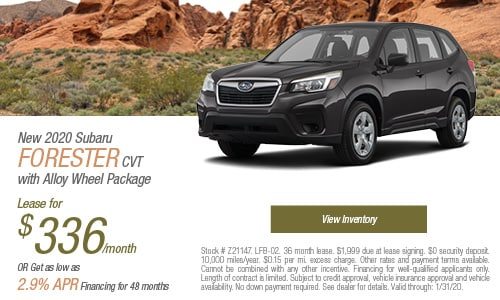 New 2020 Subaru Forester CVT with Alloy Wheel Package