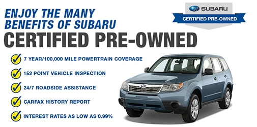 Subaru Certified Pre Owned >> Certified Pre Owned Subaru Dealer Certified Used Subaru