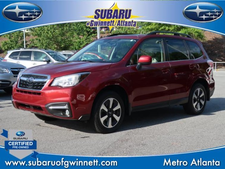 Certified Used 2018 Subaru Forester Limited W/Blindspot/Leather/Power Liftgate/Rcta SUV in Atlanta, GA