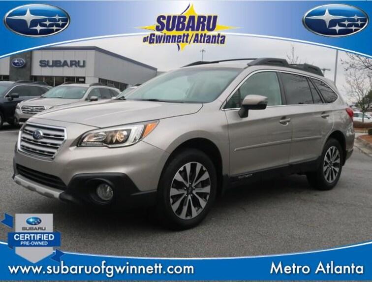 Certified Used 2016 Subaru Outback Limited W/Navigation/Eyesight/Rcta SUV in Atlanta, GA