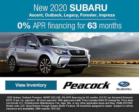 2020 new SubaruAscent, Outback, Legacy, Forester, Impreza