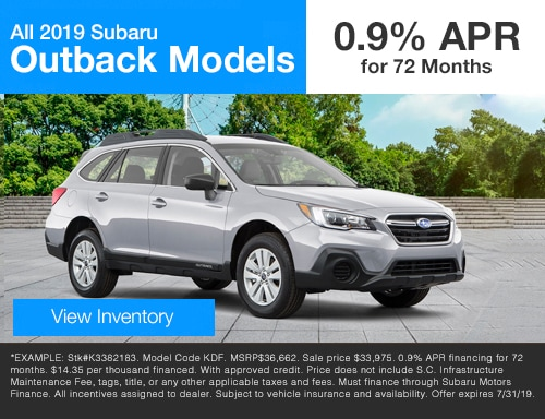 All 2019 Subaru Outback models