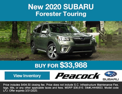 2020 new Subaru	Forester	Touring