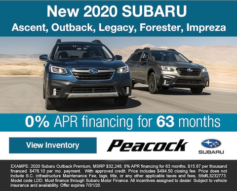 2020 new Subaru Ascent, Outback, Legacy, Forester, Impreza