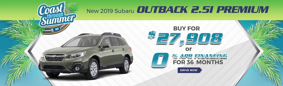 New 2019 Subaru Outback 2.5i Premium