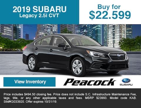 2019 SubaruLegacy 2.5i CVT