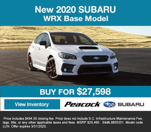 2020 new SubaruWRX Base Model