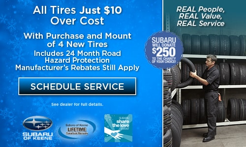 All Tires Just $10 Over Cost