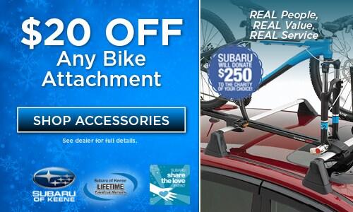 $20 Off Any Bike Attachment
