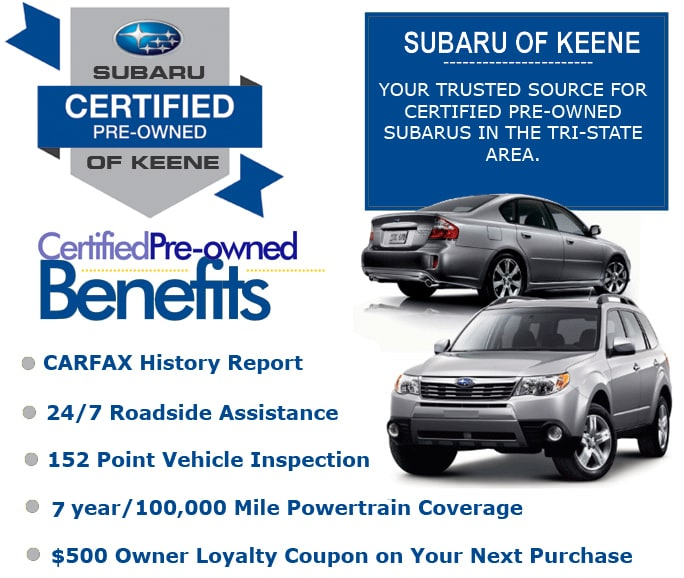 Subaru Certified Pre Owned >> Benefits Of Subaru Certified Pre Owned Program
