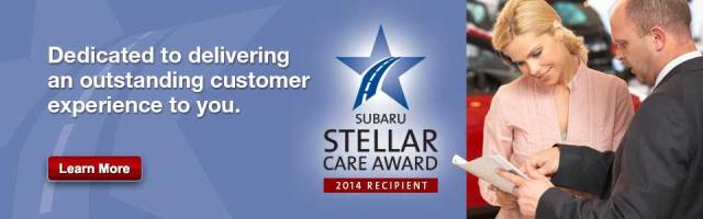 Subaru Stellar Care Award Kennesaw