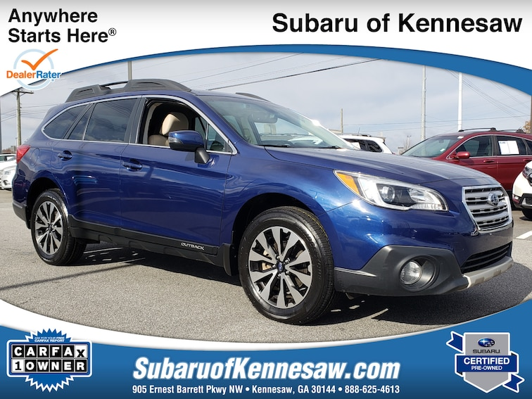 Certified Used 2017 Subaru Outback Limited SUV near Atlanta