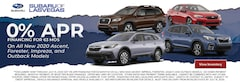 2020 Ascent, Forester, Impreza, and Outback Models