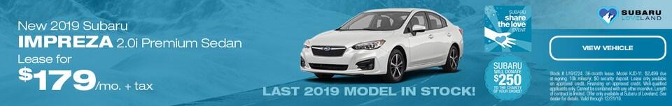 New 2019 Subaru Impreza 2.0i Premium Sedan