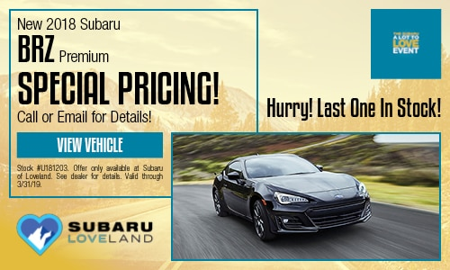 2018 Subaru BRZ Special Offer - March