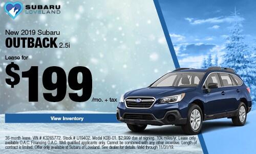 2019 Subaru Outback Lease Offer