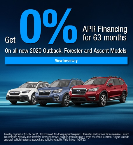 Get 0% APR Financing for 63 months