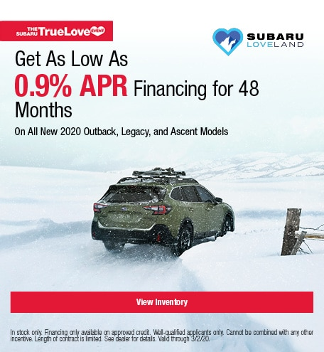 Get As Low As 0.9% APR Financing for 48 Months