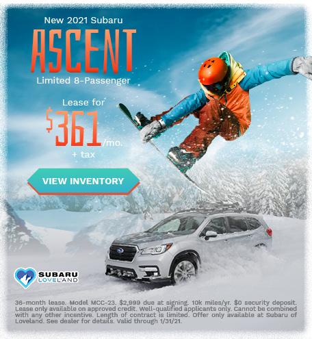 New 2021 Subaru Ascent Limited 8-Passenger