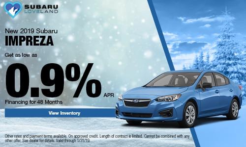 2019 Subaru Impreza Financing Offer