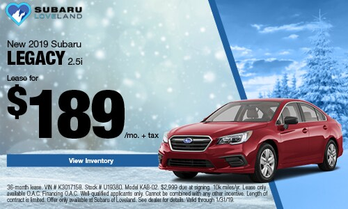 2019 Subaru Legacy Lease Offer