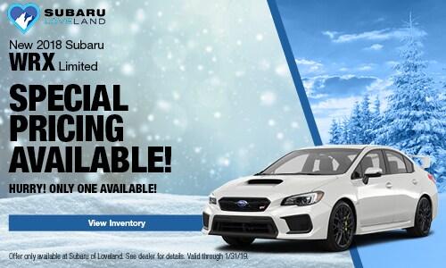 2018 Subaru WRX Special Offer