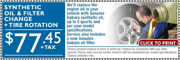 Conventional Synthetic Subaru Oil Change Loveland Co Fort
