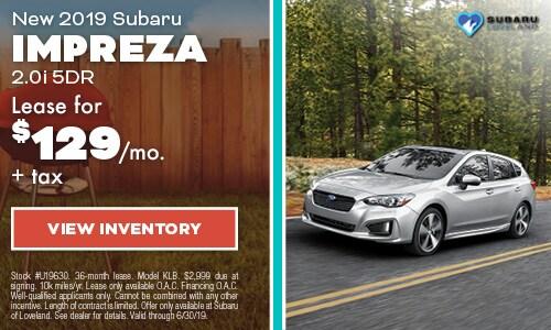 2019 Subaru Impreza Lease - June
