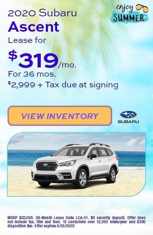 June 2020 Subaru Ascent Lease
