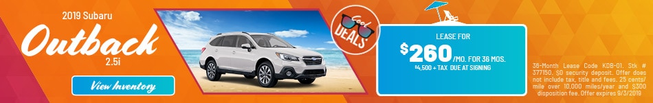 August 2019 Outback Lease Offer