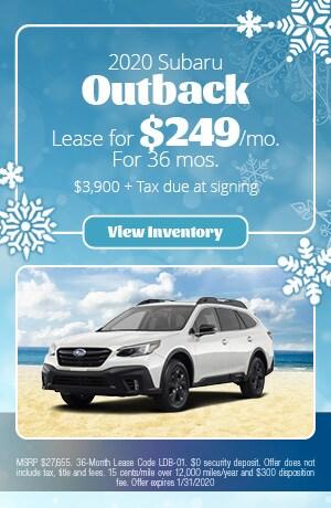 January 2020 Subaru Outback Lease Offer