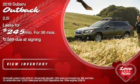 '19 Outback Lease Offer