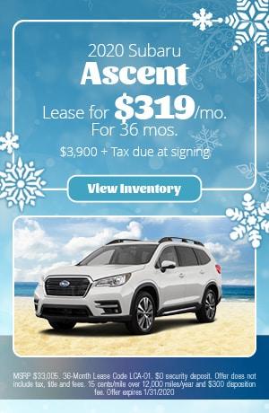 January 2020 Subaru Ascent Lease Offers