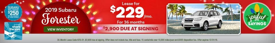 2019 Subaru Forester Offer