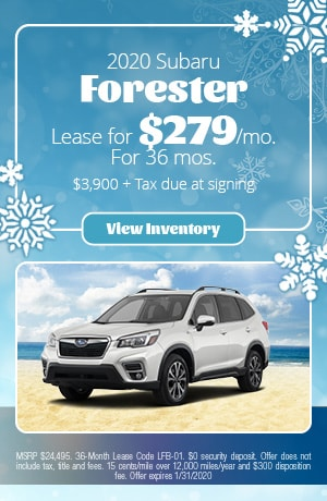 January 2020 Subaru Forester Lease Offer