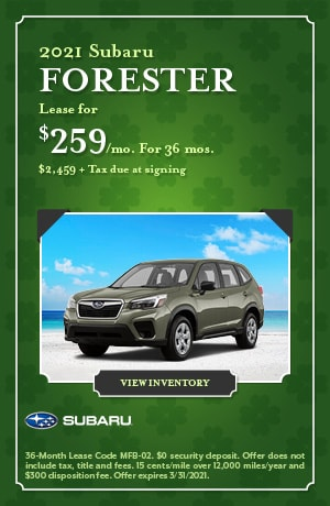 March 2021 Subaru Forester Offer