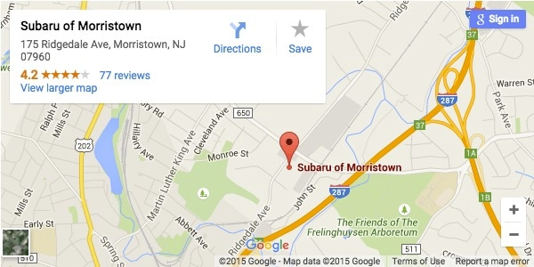 Subaru of Morristown service center
