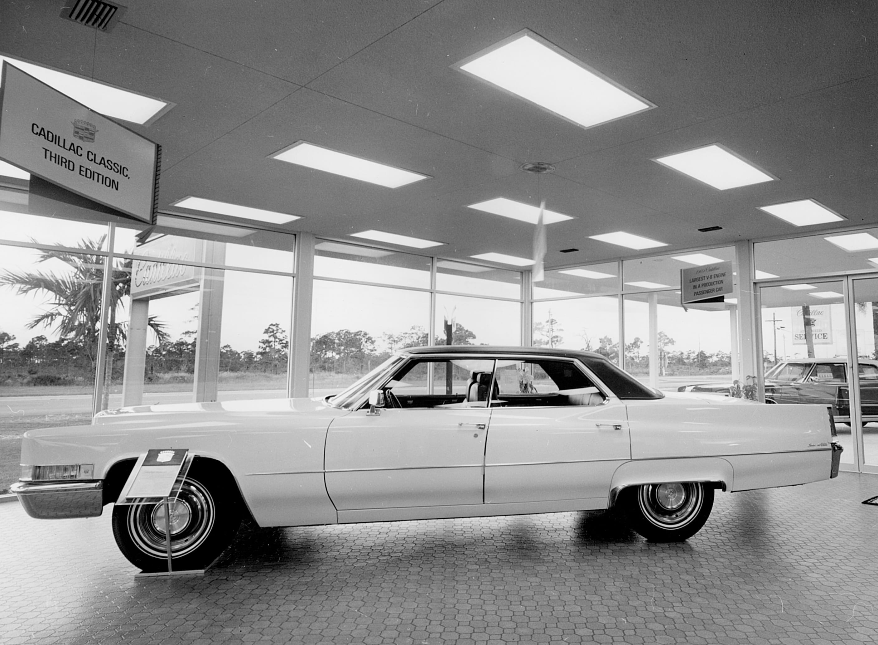 Picture from 1968 Showroom facing out onto 41