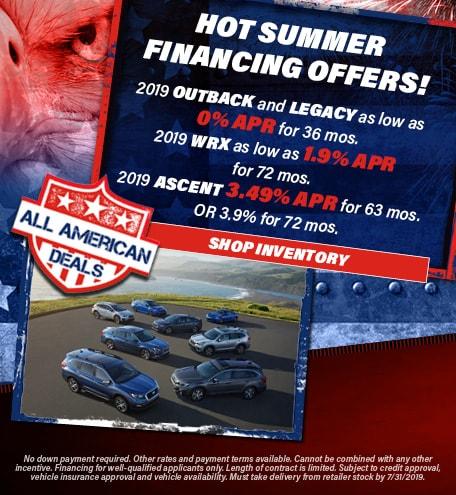 July 2019 Hot Summer Financing Specials