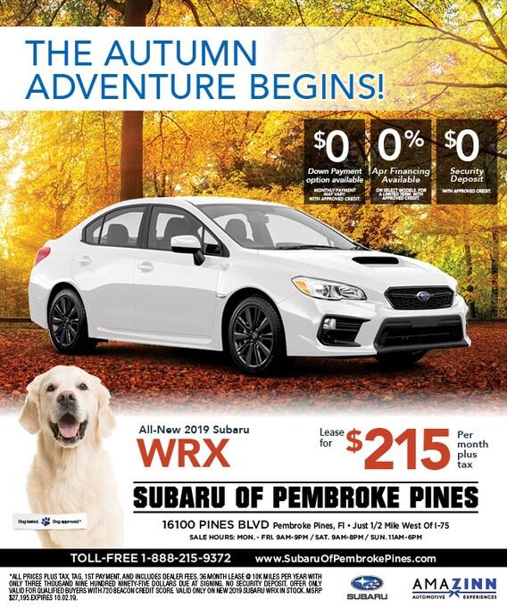 2019 Subaru WRX Lease Specials | Subaru of Pembroke Pines