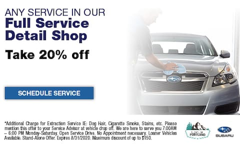 20% Off Detailing Services