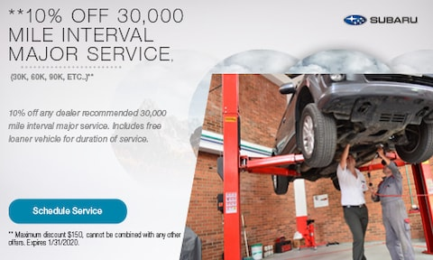 10% Off 30,000 Mile Services
